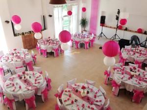 salle mariage à louer décorée rose